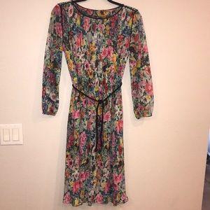 Pleated Vintage Dress Size 8